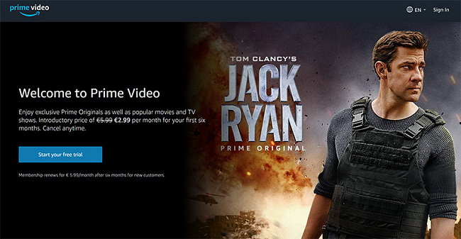 Amazon Prime video stream vpn Turkey